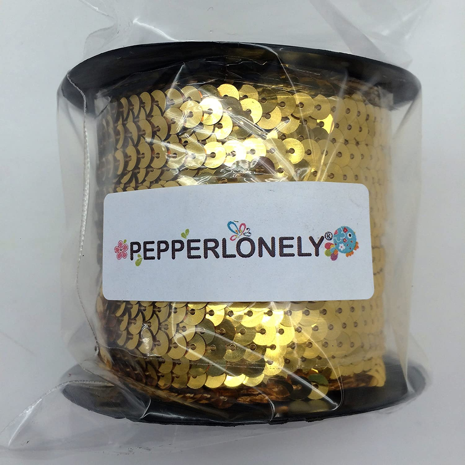 PEPPERLONELY Brand 80 Yard//Roll Metallic Flat Sequin Trim Dark Turquoise