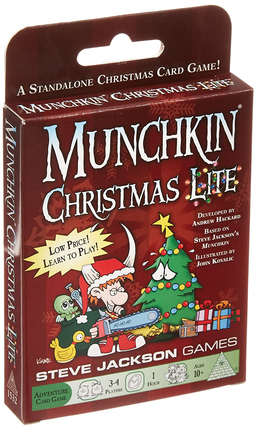 Amazon.com: Munchkin Christmas Lite Card Game: Toys & Games