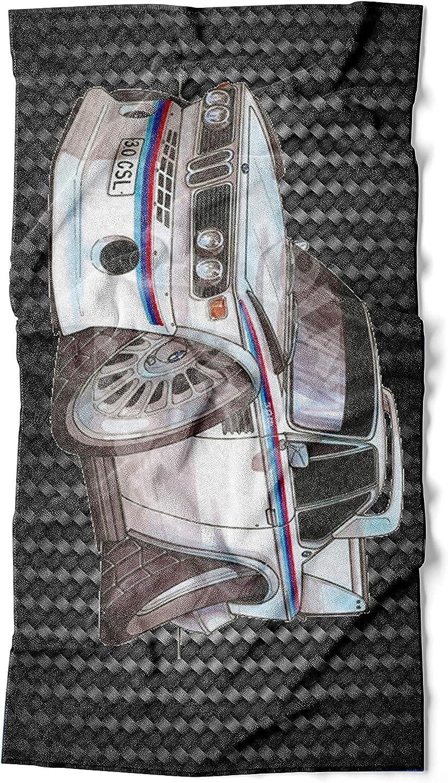 KOOLART Grande Serviette de Plage Compatible avec BMW 3.0 CSI Car Taille 140 x 70 cm