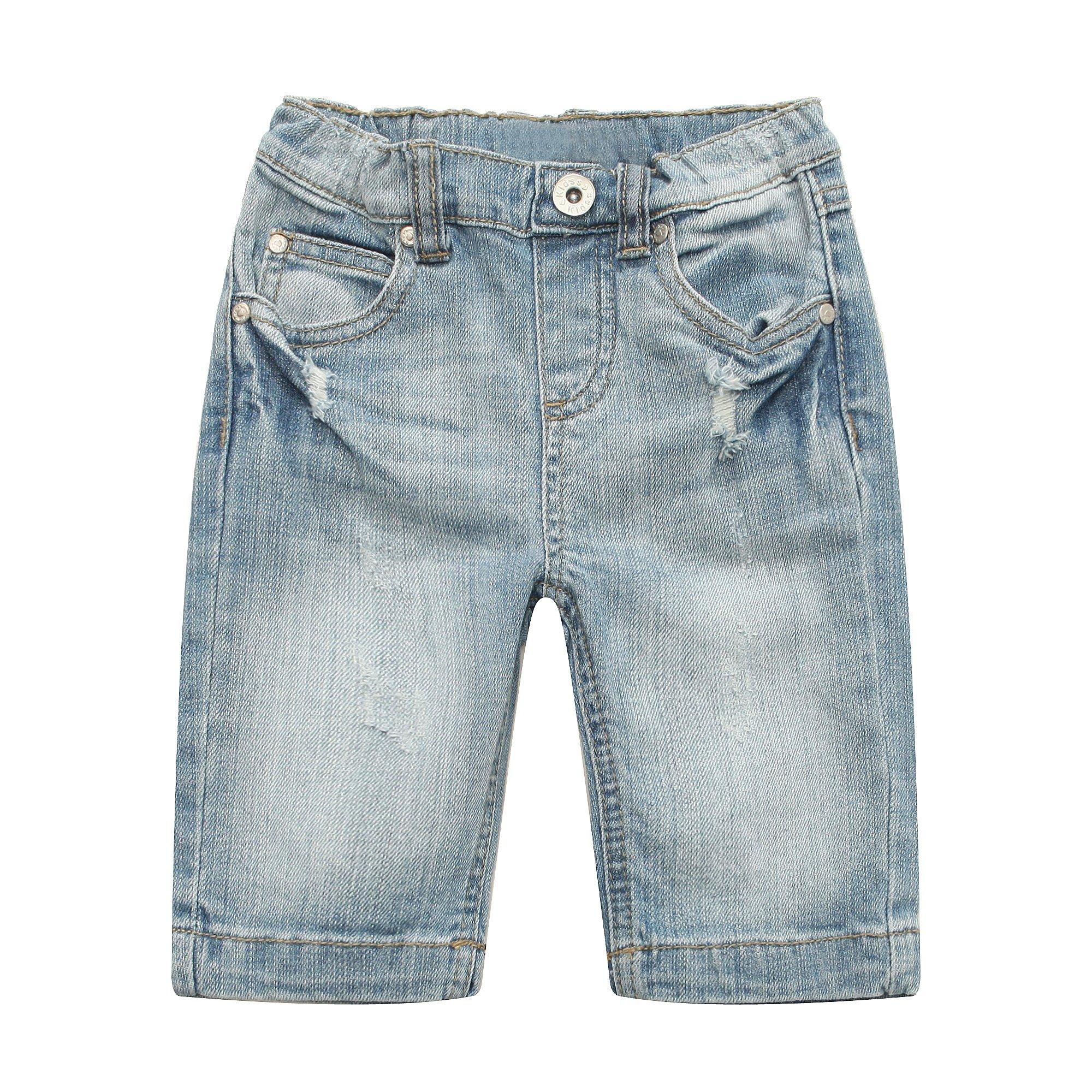 Richie House Girl's Middle Denim Pants RH1819-A-5/6
