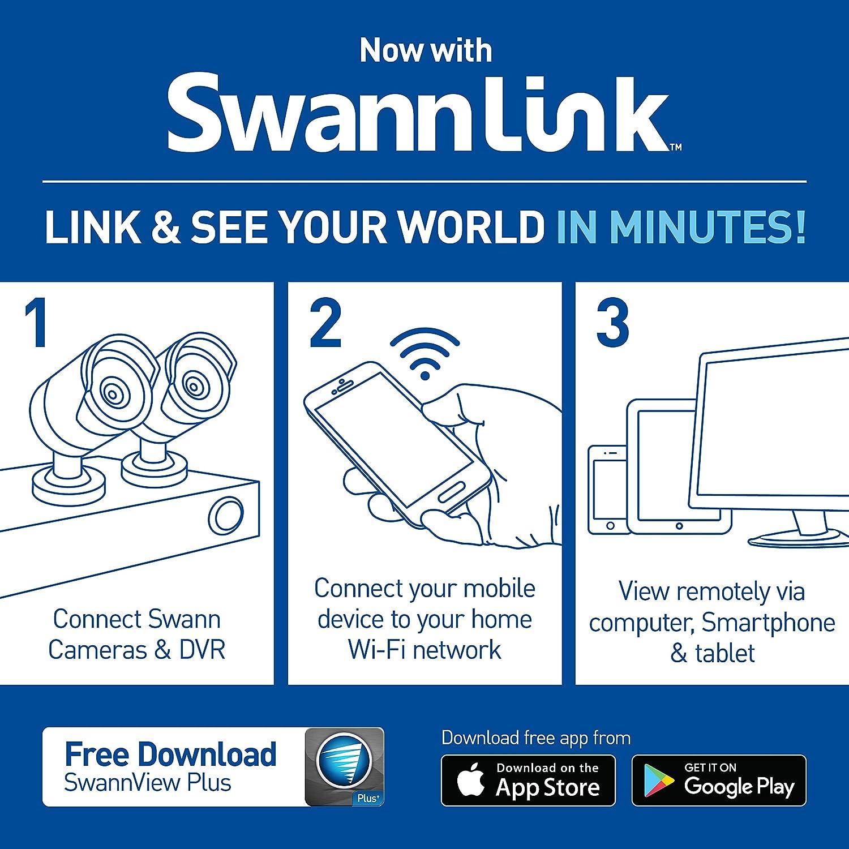 Swann SWDVK-HDHOMK88-US DVR8-1575 TVI 720A / 500GB / 8 x HDCAM Bullet White  Surveillance DVR Kit, Black