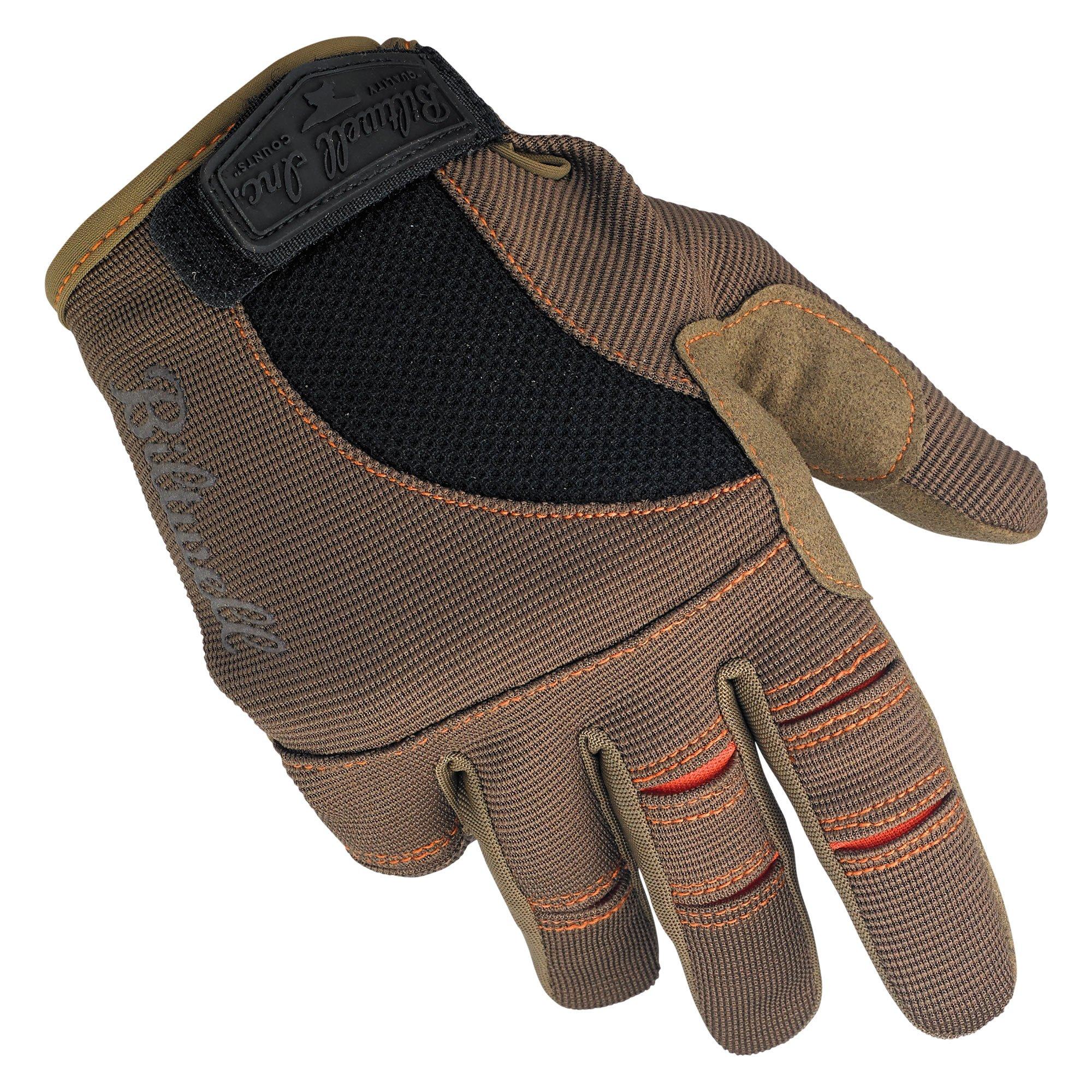Biltwell Moto Gloves (Brown/Orange, Large)