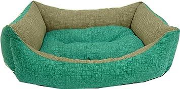 iOn Cama Cuna para Perro Y Gato 65x50 Bicolor Verde y Gris