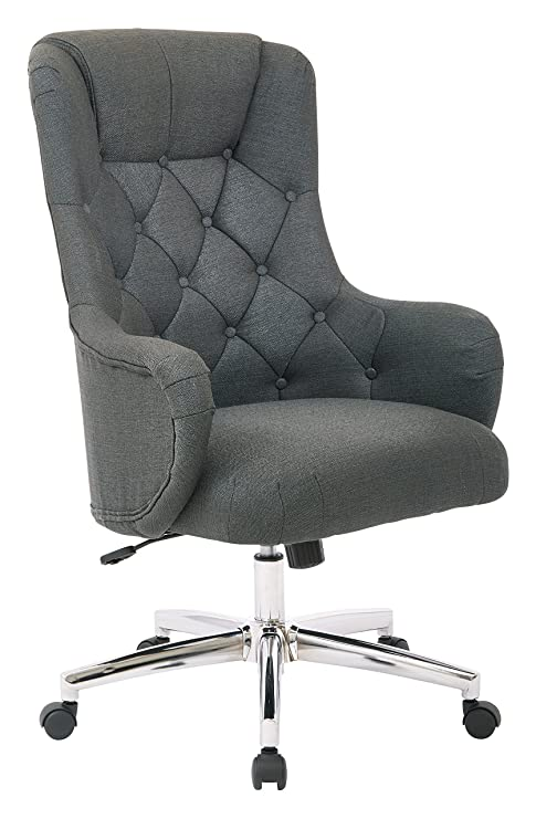 Brilliant Ave Six Ariel Tufted High Back Desk Chair With Wraparound Arms And Chrome Base Klein Charcoal Forskolin Free Trial Chair Design Images Forskolin Free Trialorg