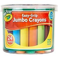 Crayola My First Easy Grip Jumbo Kleurpotloden ontworpen voor peuters, Pack van 24, 81-8104