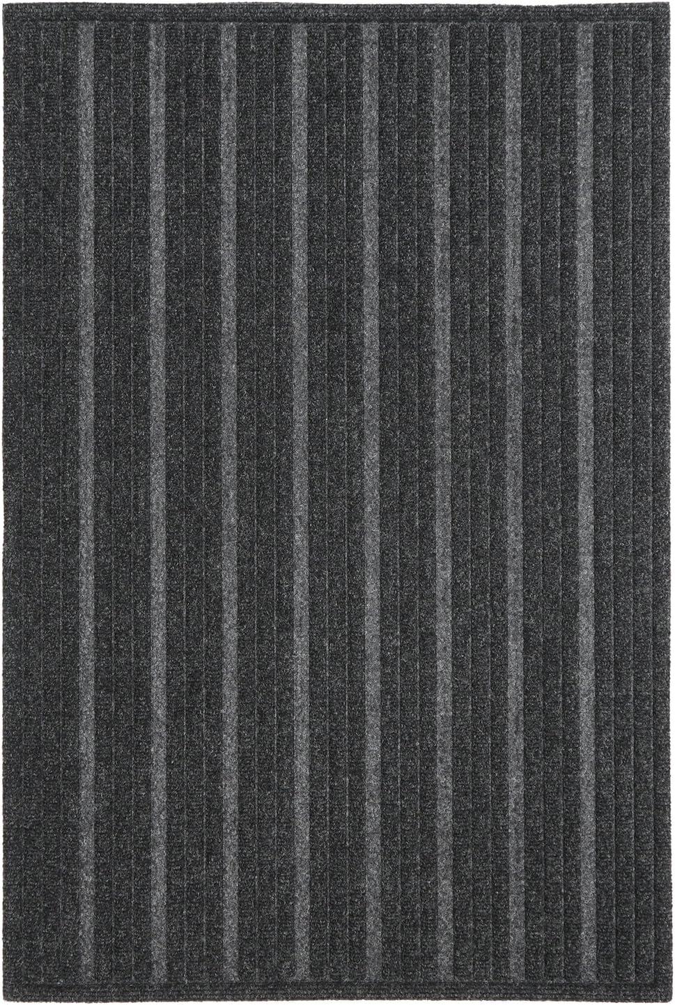 Mohawk Home Impressions Ribbed Charcoal Door Mat, 2'x3'