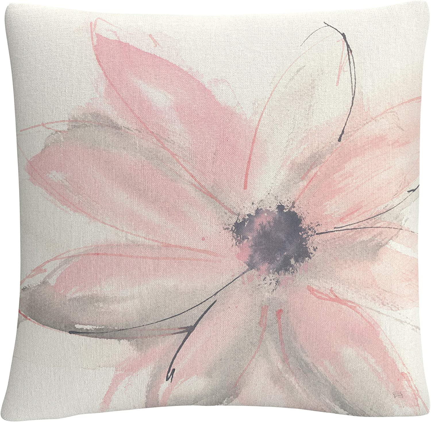 Trademark Fine Art Blush Clematis I By Chris Paschke 16x16 Decorative Throw Pillow Multicolor Home Kitchen