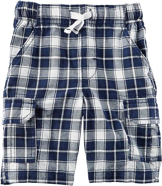 a7f17f2dec Amazon.com: Carter's Baby Boys' Plaid Drawstring Shorts: Clothing