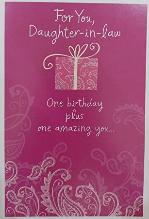 Amazon For You Daughter In Law Happy Birthday Greeting