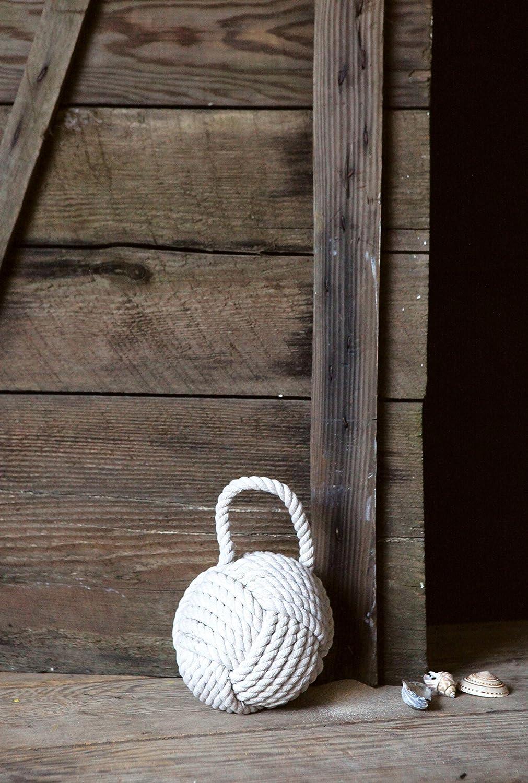 White Creative Co-op DE1586 Nautical Rope Knot Door Stop