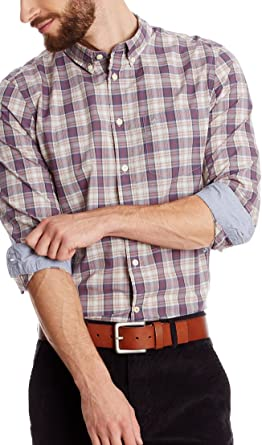 dockers Camisa Hombre 60s Beige/Granate: Amazon.es: Ropa y accesorios