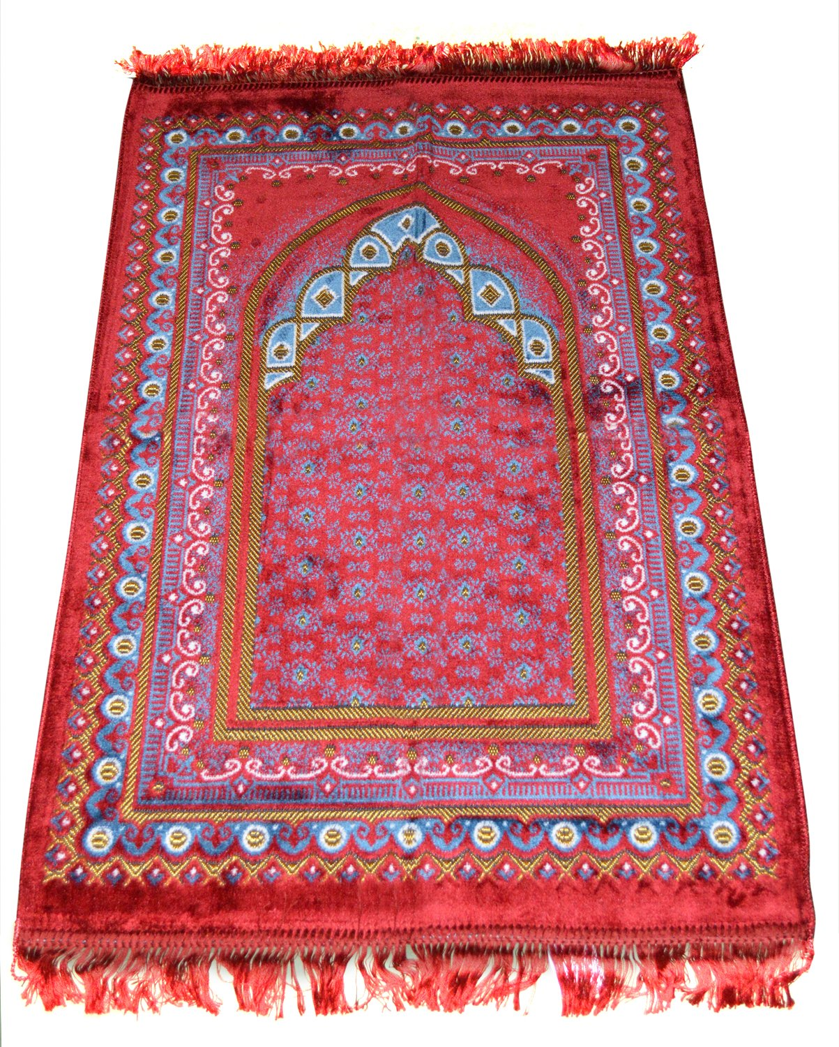 Prayer Rug Made in Turkey with Fine Soft Velvet Superior Quality