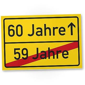 Dankedir 60 Jahre 59 Jahre Vorbei Kunststoff Schild Geschenk 60 Geburtstag Geschenkidee Geburtstagsgeschenk Sechzigsten