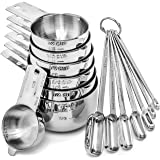 Hudson Essentials Stainless Steel Measuring Cups and Spoons Set (14 Piece Set)