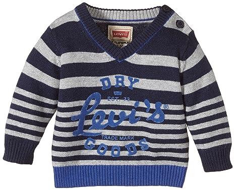 2ddb3c90bf4 Levi's Kids Baby-Boys Cardigan NE18024 Striped Jumper, Blue (Dark ...