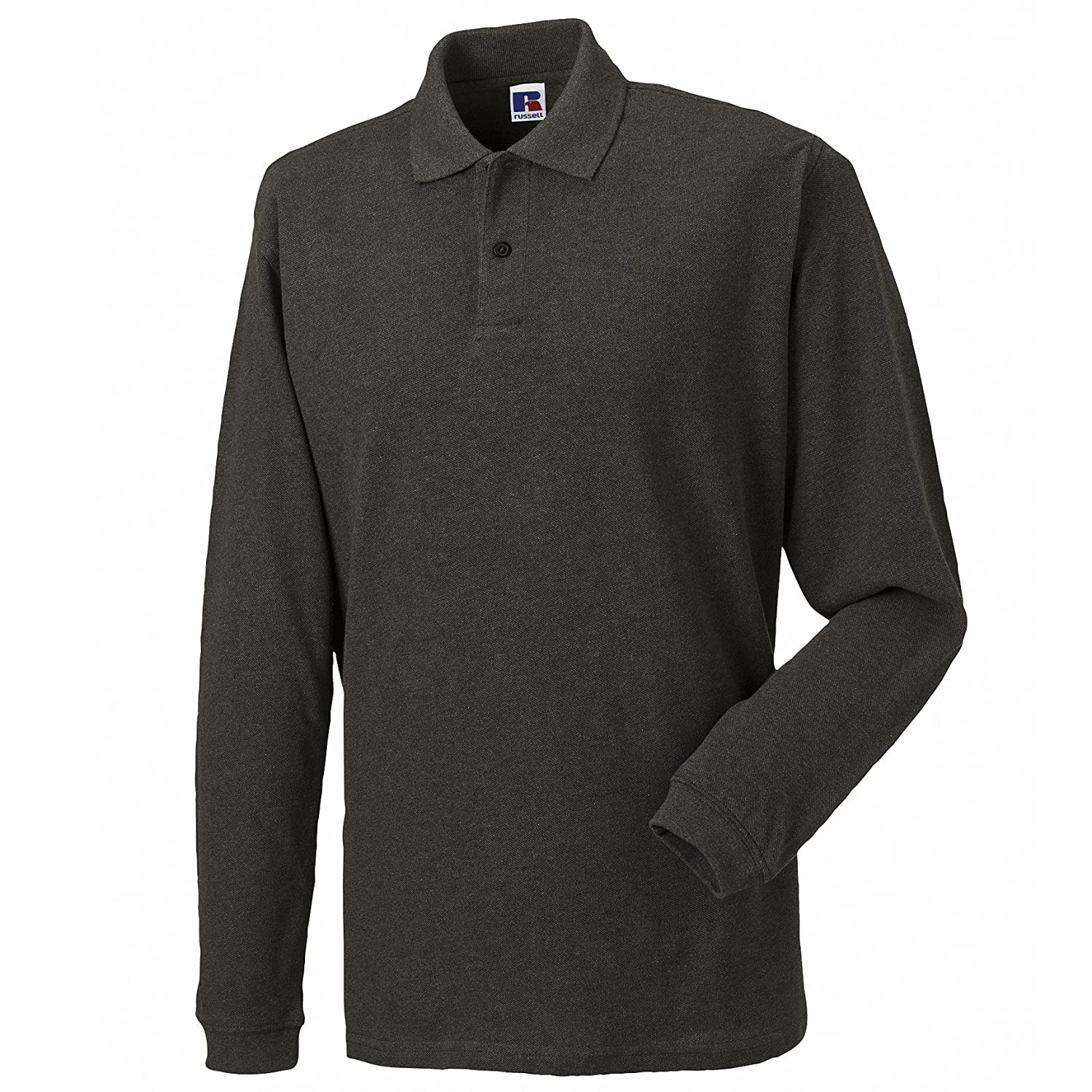 Russell Europe Mens Long Sleeve Classic Cotton Polo Shirt