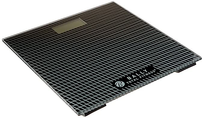 Amazon.com: Bally Total Fitness BLS-7302 BLK Digital Bathroom Scale (Black), Black: Kitchen & Dining