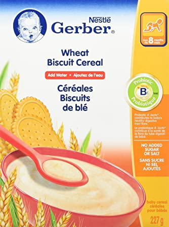 Nestle Wheat Biscuit Cereal Add Water 8 Months 227g Amazon