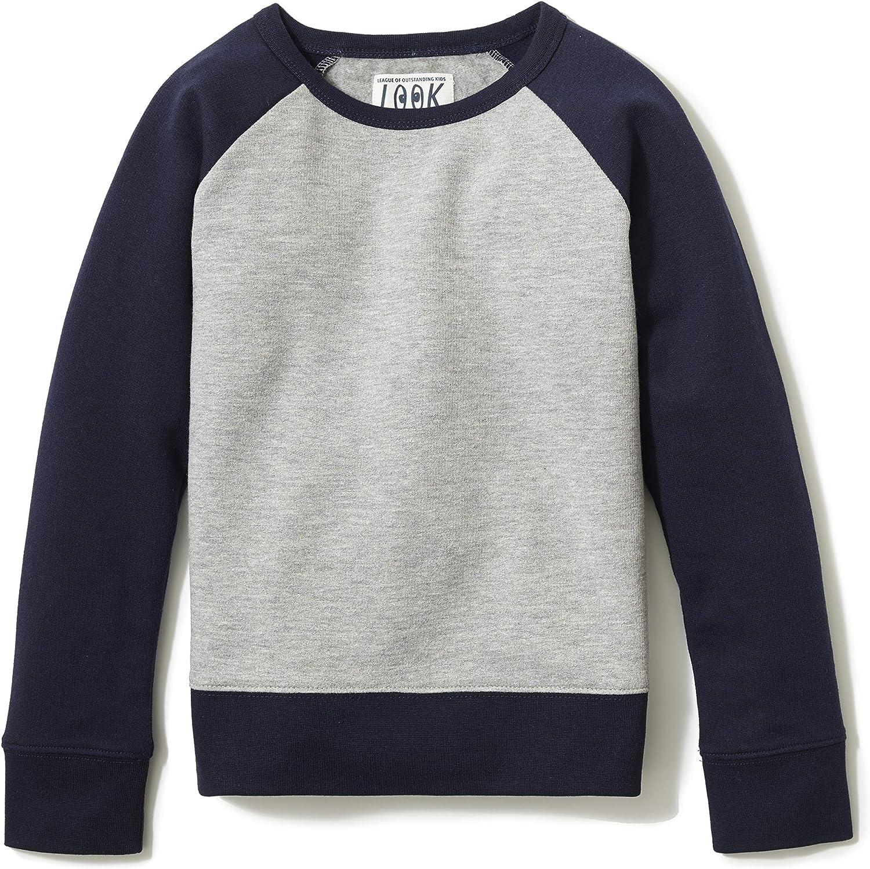 Crew Brand // J LOOK by crewcuts Girls Crewneck Raglan Sweatshirt