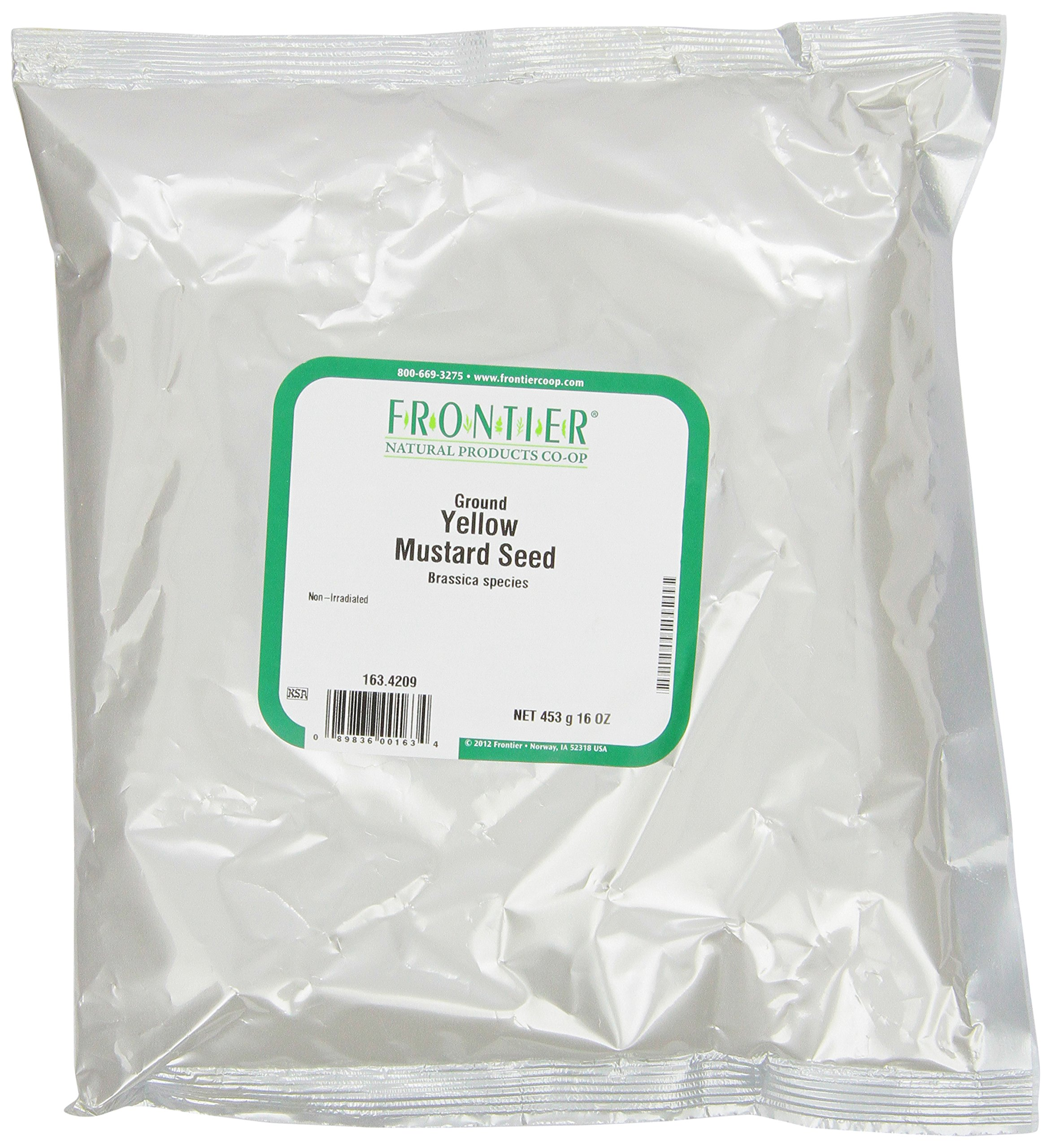 Frontier Mustard Seed, Yellow Powder, 16 Ounce Bags (Pack of 3)