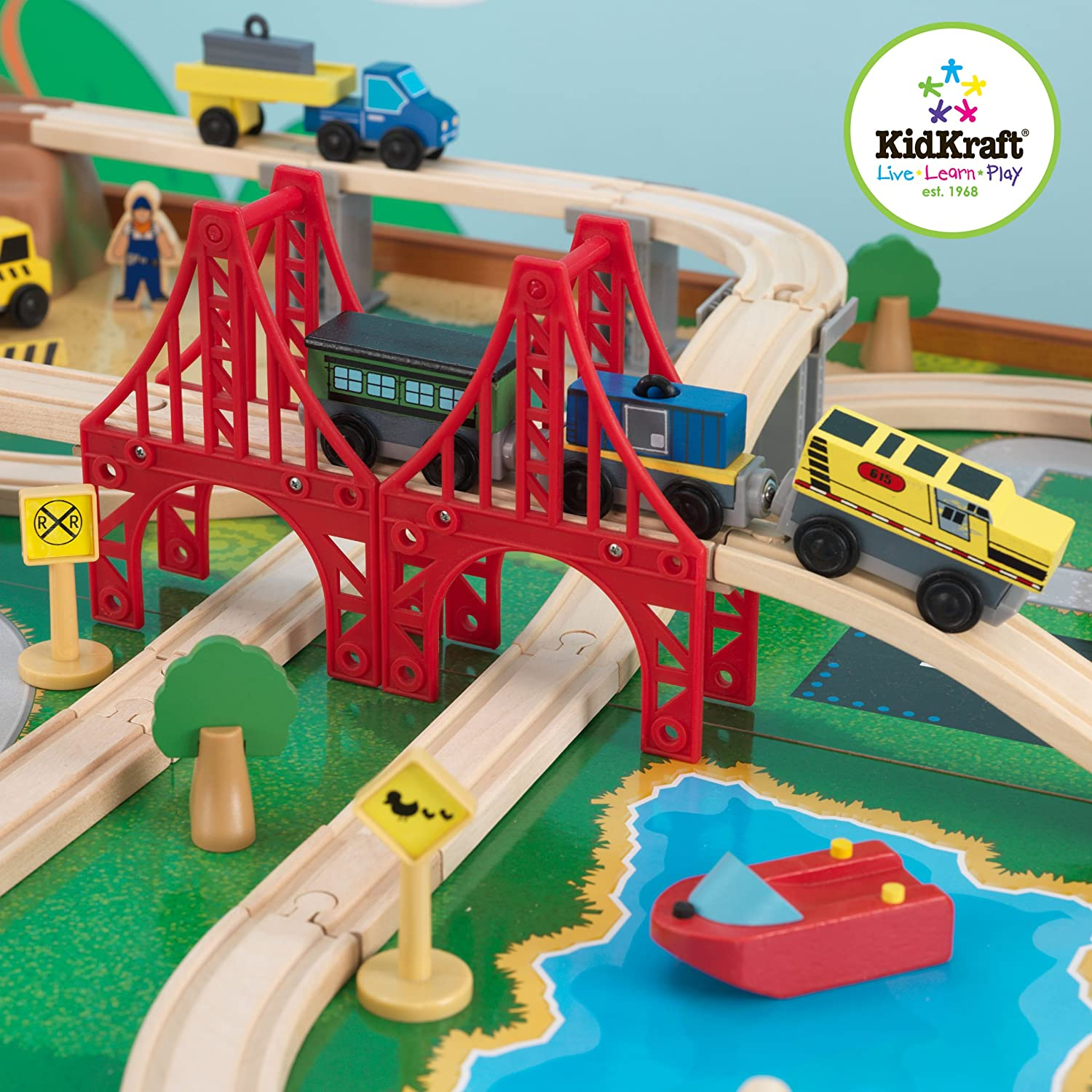 Kidkraft Ride Around Train Set And Table Toys Games