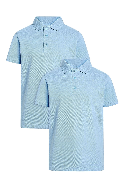 next Niños Pack de Dos Polos (3-16 años) Corte Estándar Azul 16 ...