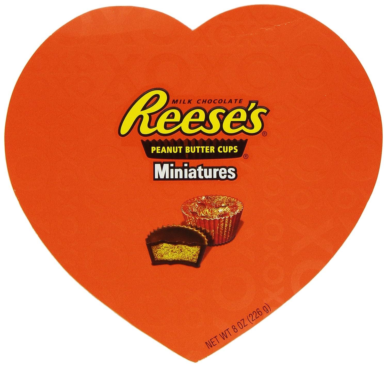 Amazon.com : Reese's Valentine's Peanut Butter Cup Miniatures, 8 ...