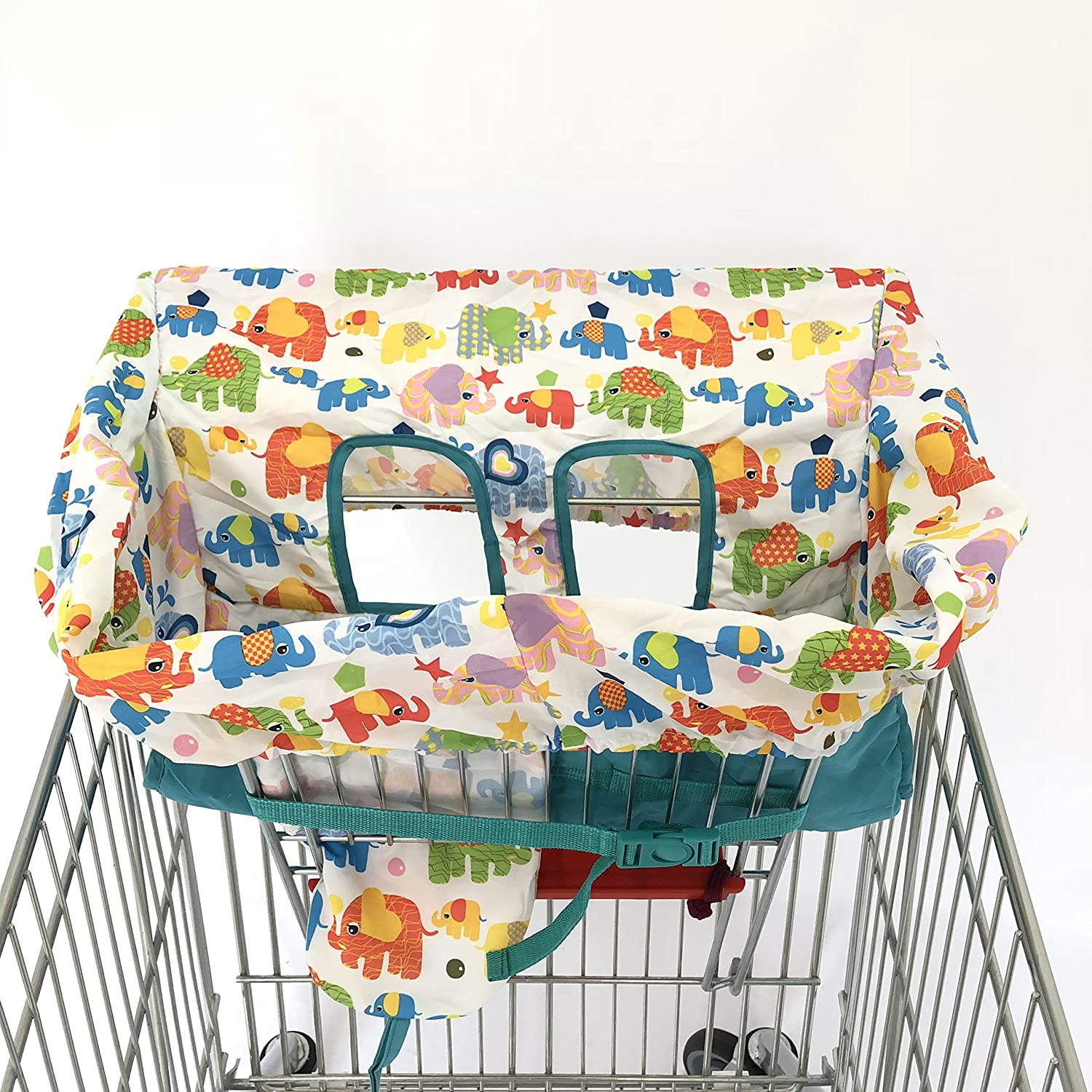 Blue Dot High Chair Cover for Baby Standard Size 2-in-1 Shopping Cart Cover