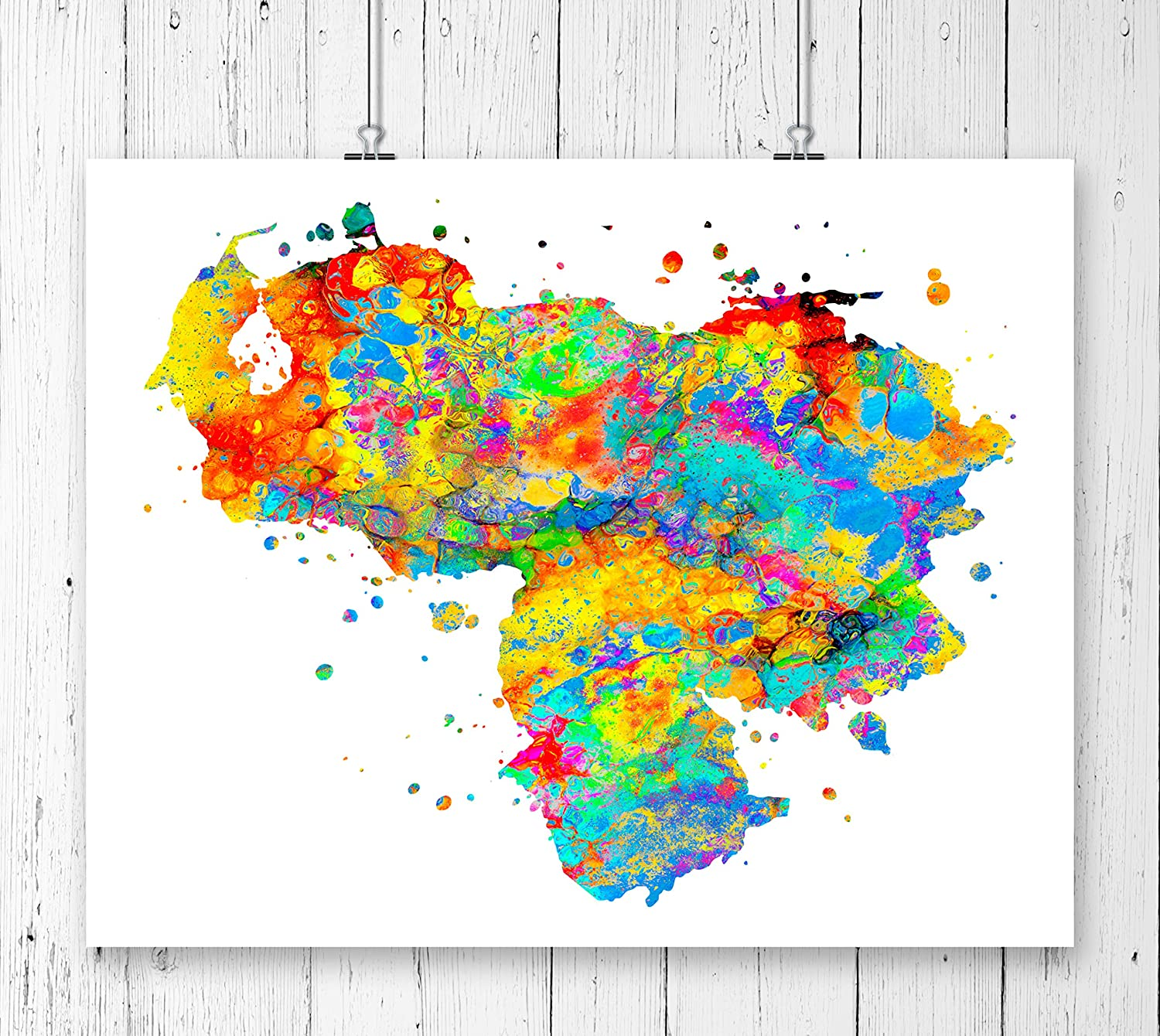 Amazon.com: Venezuela Map Art Print, Poster, Wall Art ... on map of guiana, map of bahamas, map of south america, map of world, map of colombia, map of nicaragua, map of honduras, map of ecuador, map of canada, map of aruba, map of switzerland, map of puerto rico, map of romania, map of paraguay, map of yemen, map of caracas, map of bolivia, map of greece, map of bonaire,