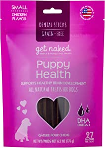 Get Naked Grain Free Puppy Health Dental Chew Sticks, Small