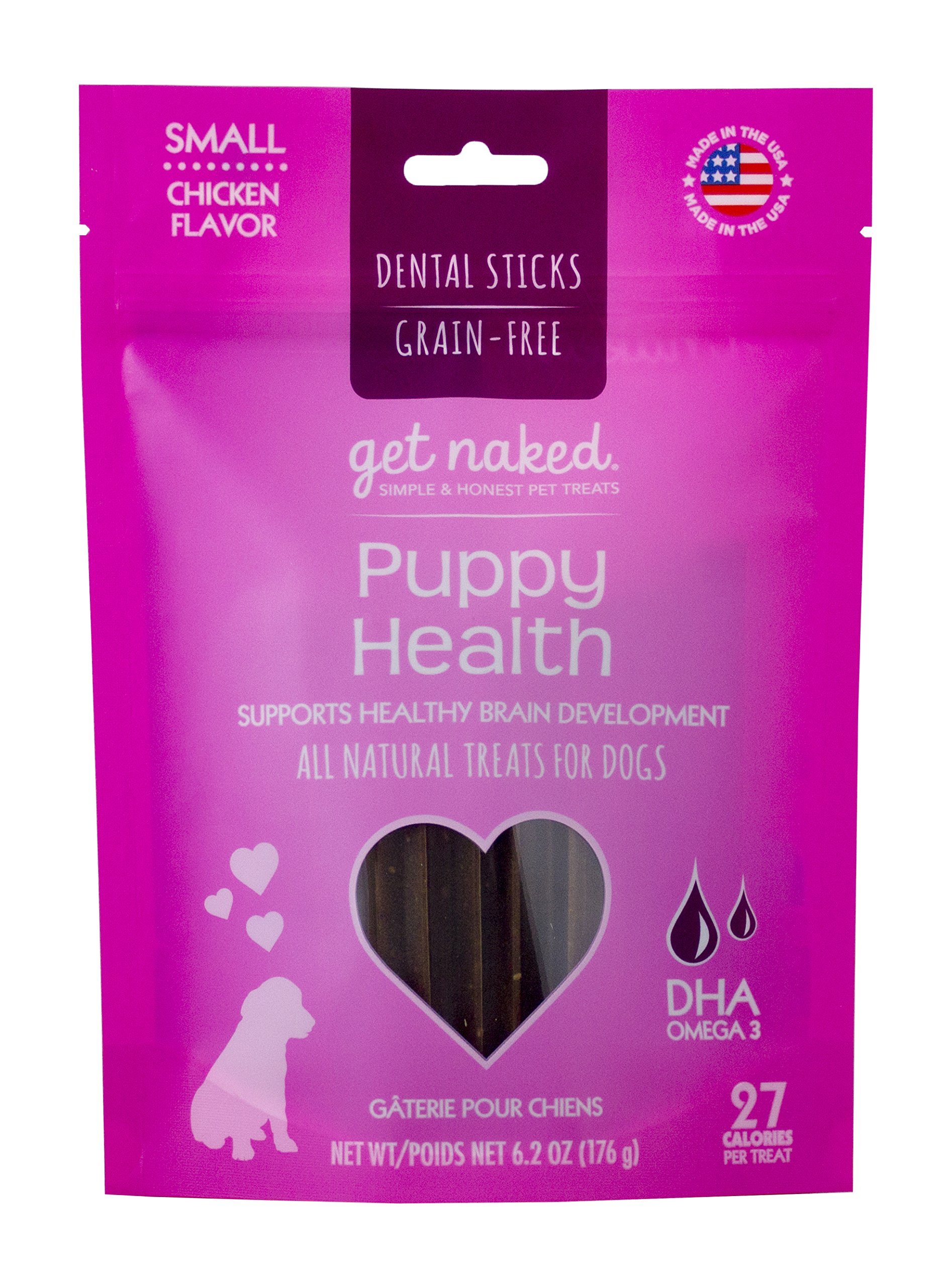 Get Naked Grain Free Puppy Health Dental Chew Sticks Small 6.2 oz
