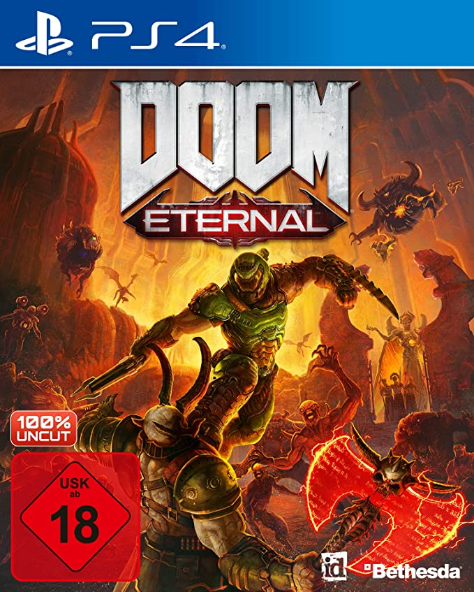 DOOM Eternal inkl. Metal Plate (Exkl. bei Amazon) - PlayStation 4 [Importación alemana]