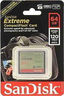 Amazon.com: SanDisk Extreme 64GB CompactFlash Memory Card ...