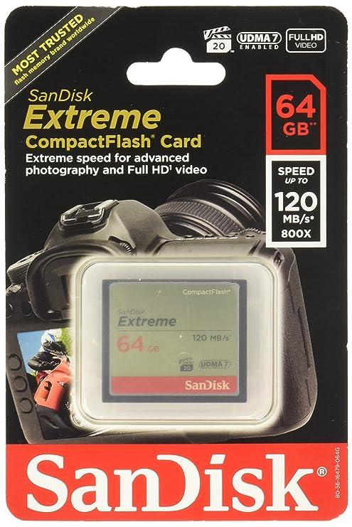 Amazon.com: SanDisk Extreme Tarjeta de memoria CompactFlash ...
