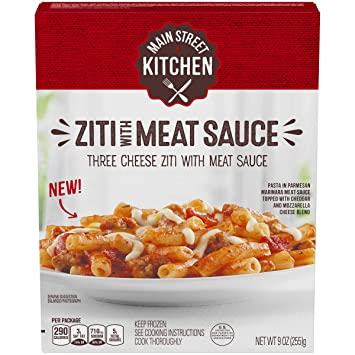 Main Street Kitchen Ziti With Meat Sauce 108 Oz