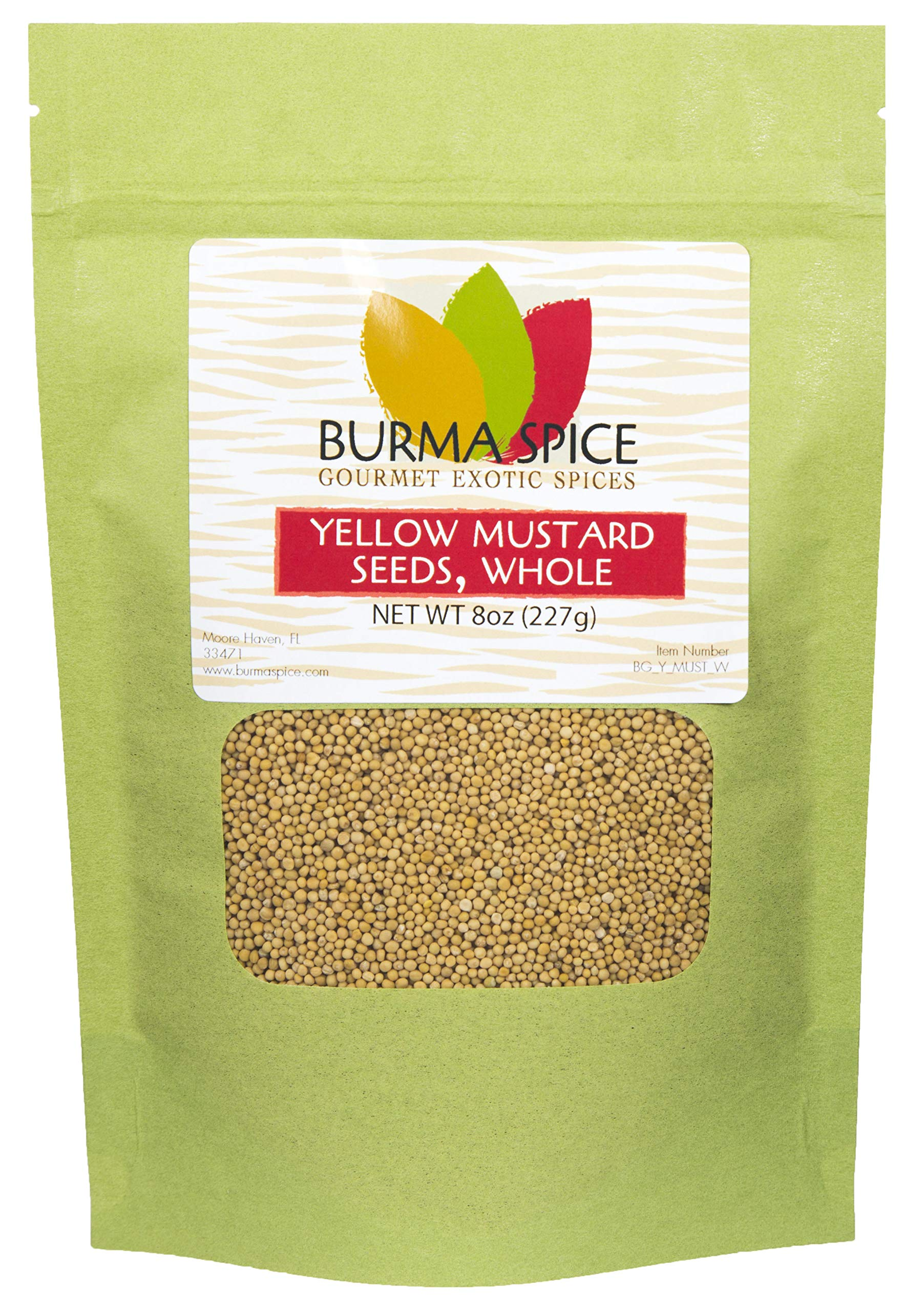 Yellow Mustard Seed : Whole, Dried, Spice, Herb, Seasoning, Indian Cuisine, Kosher (8oz.)