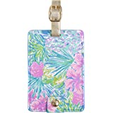 Lilly Pulitzer Women's Leatherette Luggage Tag, Swizzle in, One Size