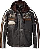 Chaqueta Moto Hombre en Cuero Urban Leather '58 GENTS' | Chaqueta Cuero Hombre | Cazadora de Moto de Piel de Cordero…