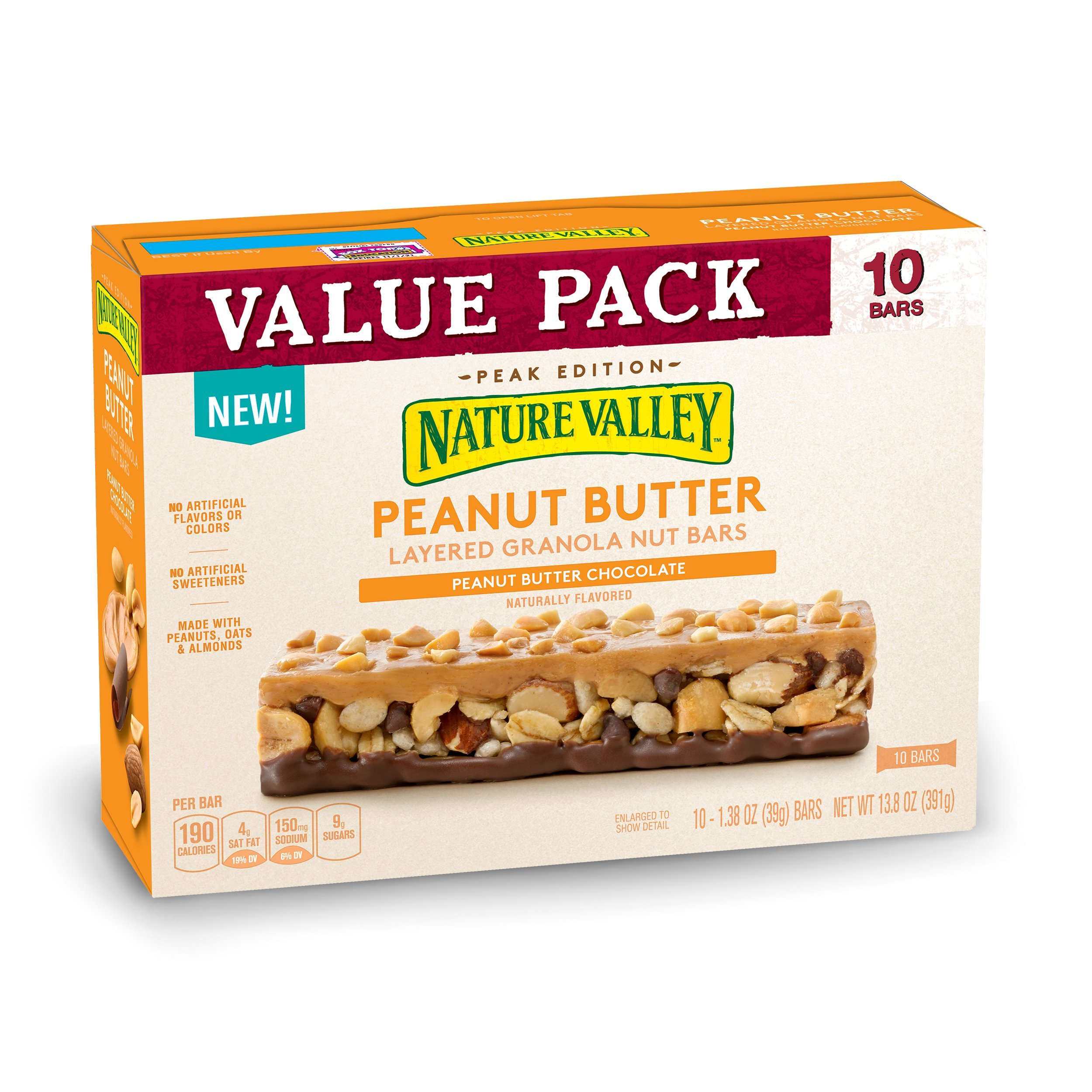 Nature Valley Layered Peanut Butter And Chocolate Granola Nut Bars, 13.8 oz: Amazon.com: Grocery & Gourmet Food