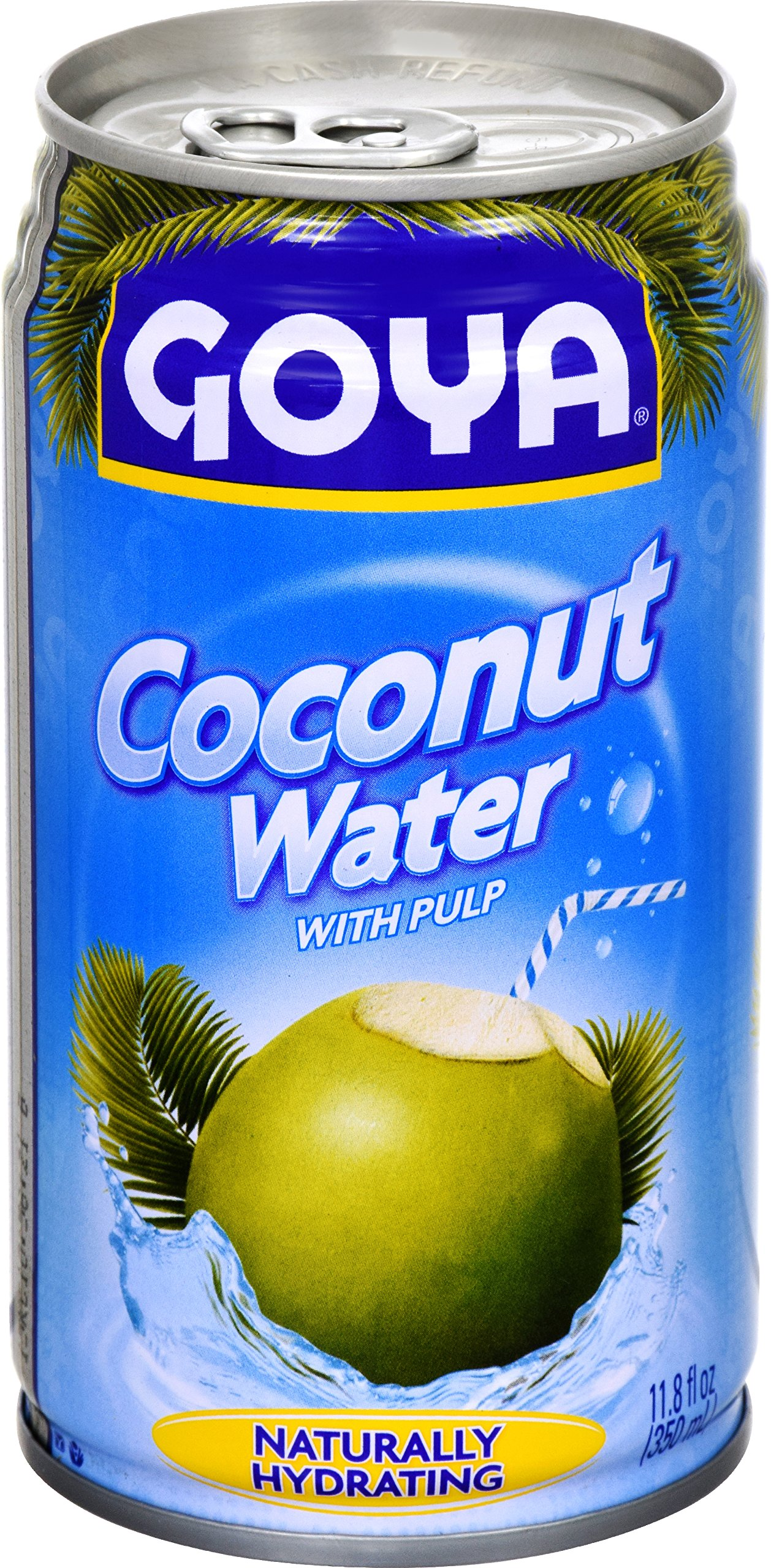Goya Foods Coconut Water with Pieces, 11.8-Ounce (Pack of 24)