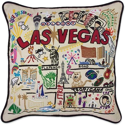 Catstudio Las Vegas Embroidered Decorative Throw Pillow