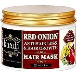 Khadi Global Red Onion Oil Anti Hair Loss & Hair Growth Deep Conditioning Hair Mask 300ml | 10 Fl.Oz | Best Hair Growth Hair Mask | Prevents Extreme Hair Fall | Luxurious – Natural – Safe Yet Powerful