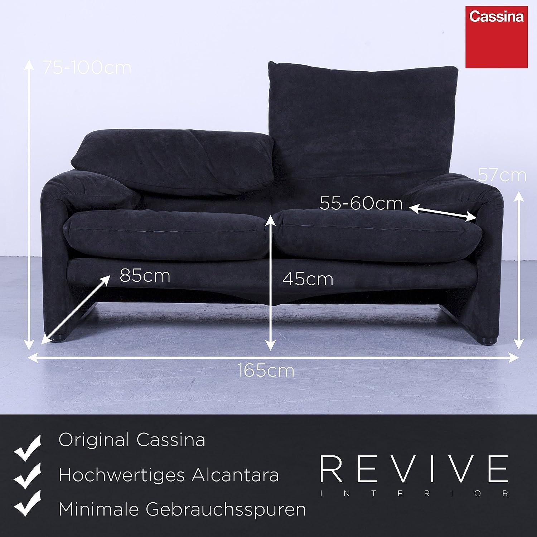 Cassina Mara lunga Diseñador Sofá Negro Alcantara plástico 2 ...
