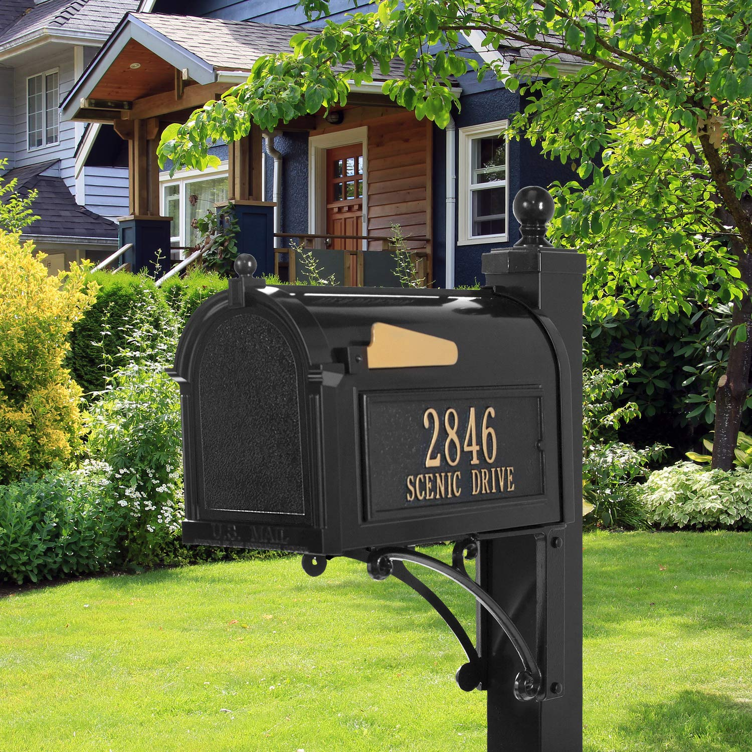 Whitehall Products Deluxe Mailbox Package - Black by Whitehall (Image #4)