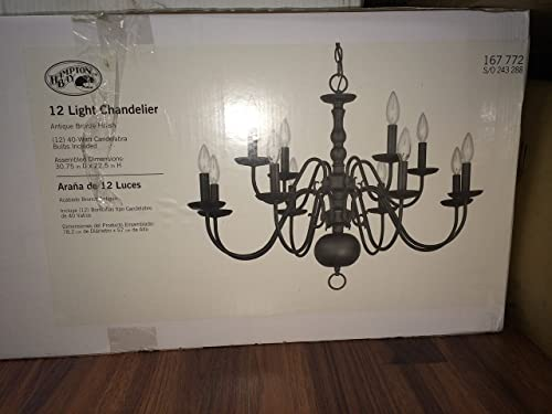 Woodford Collection 12-light H 22.46 h x 30.81 w Antique Bronze