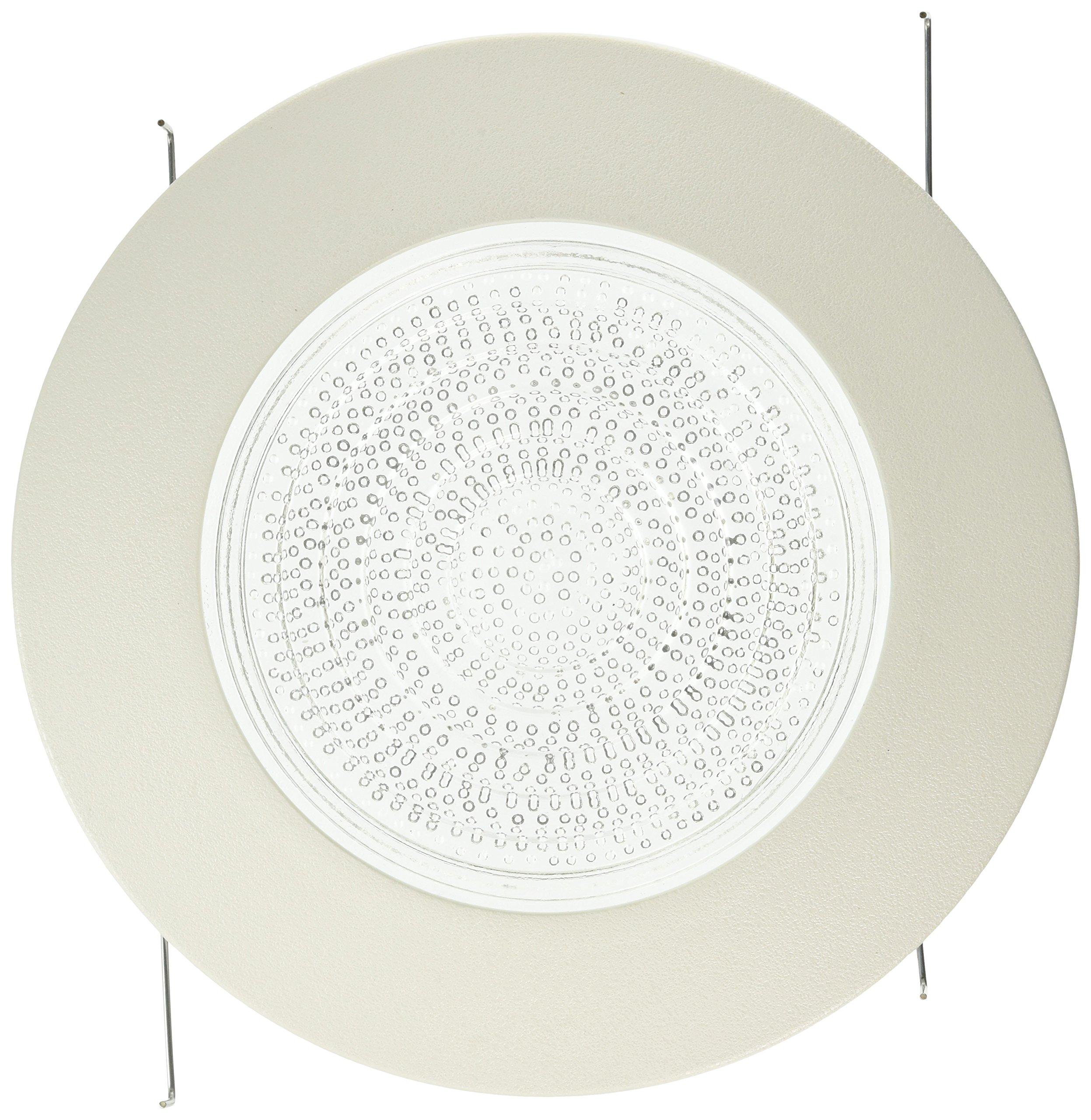 Four Bros Lighting FLP 6'' Inch Fresnel Glass Lens 6'' White Plastic 60 Watt Max. -for Wet Locations-Shower Can Light Trim-Ul Listed