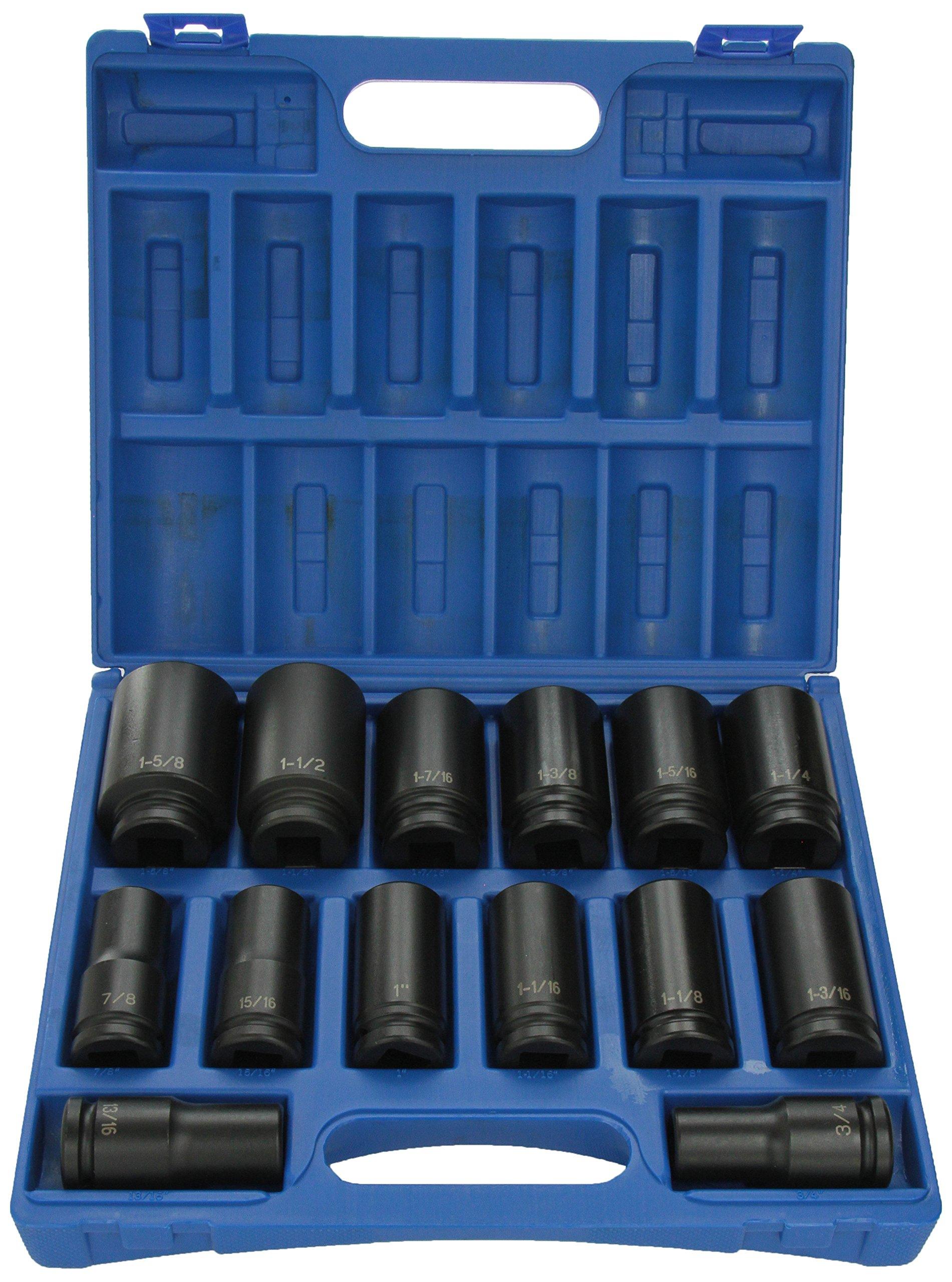 Grey Pneumatic (8038D) 3/4'' Drive 14-Piece Deep Socket Set