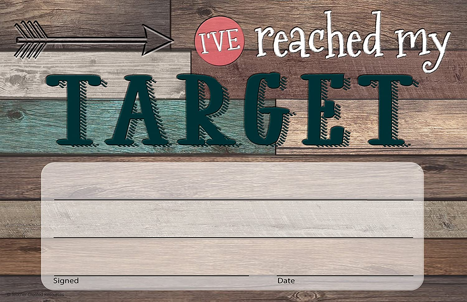 Teacher Created Resources Home Sweet Classroom I've Reached My Target Awards (TCR8821)