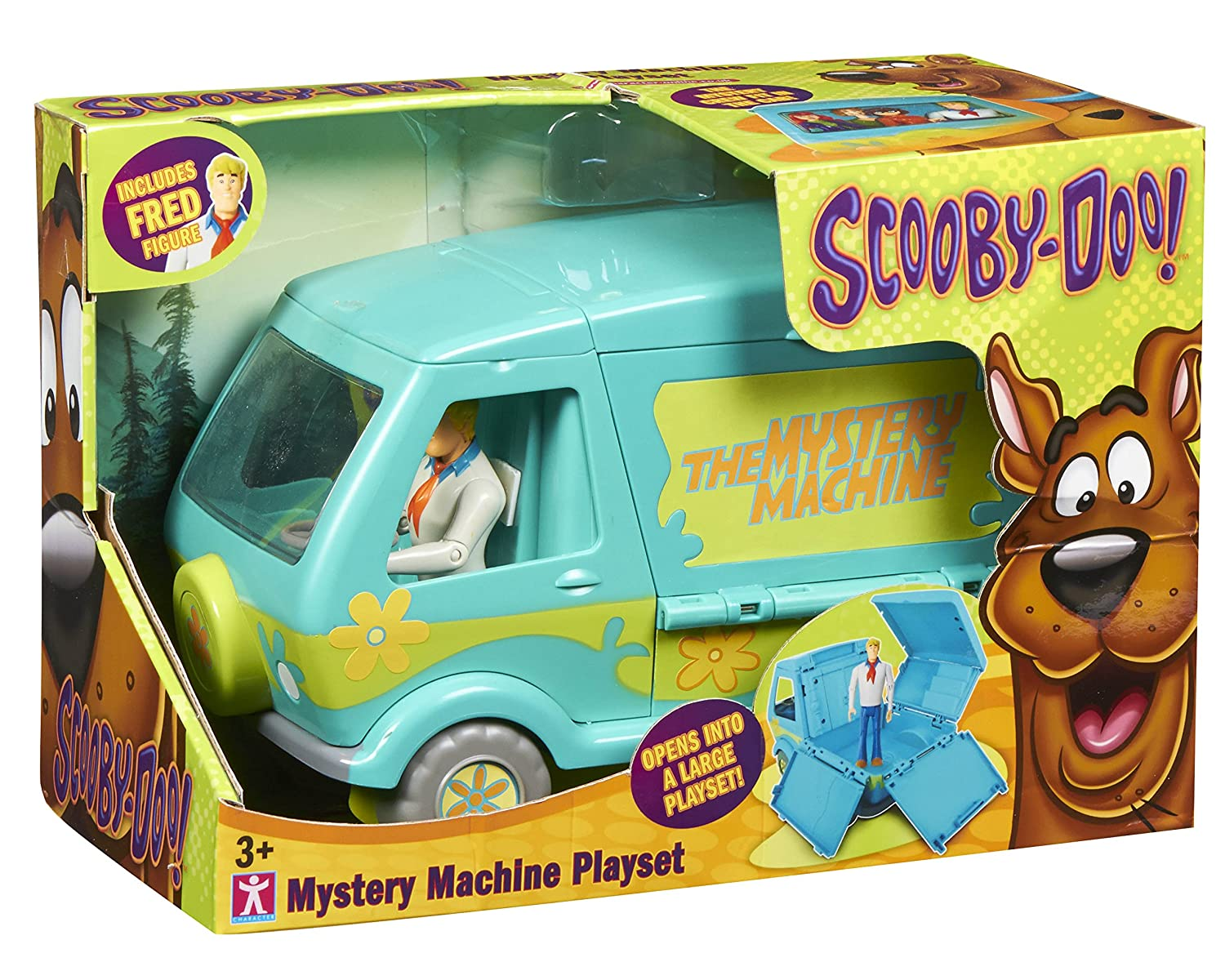 Amazon.com: Scooby Doo Mystery Machine Playset With Fred Figure by ...