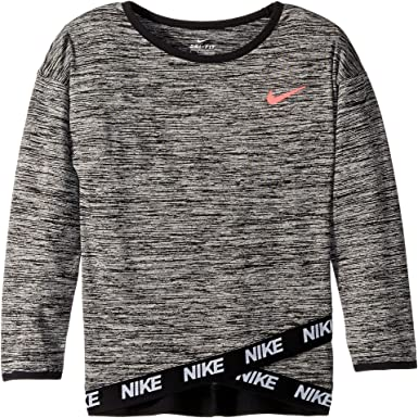 26095e7883 Nike Kids Girl's Dri-Fit Sport Essentials Crossover Tunic (Little Kids)  Black 6X